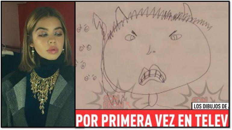 Apareció el escalofriante dibujo que Anna del Boca hizo de su padre, Ricardo Biasotti, al que denuncia por abuso sexual