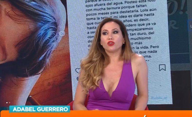 Adabel Guerrero en crisis con su pareja contó que a su hija la cuida la ex de su marido