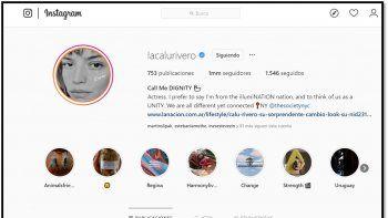 No será mucho?? Calu Rivero profundiza su estilo freak cool: ahora se cambió el nombre