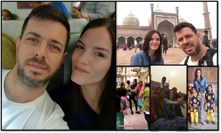 El meteorólogo José Bianco y su novia disfrutan de un viaje por India, pero una actitud de los hindúes les llama mucho la atención