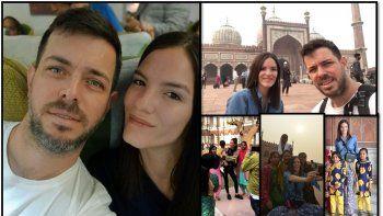El meteorólogo José Bianco y su novia disfrutan de un viaje por India