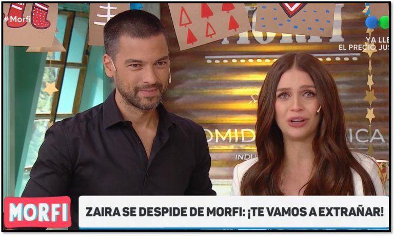 A puro llanto Zaira Nara se despidió de Morfi y tendrá a su bebé en la Patagonia