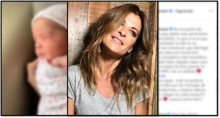 Eugenia Tobal presentó a su beba Ema