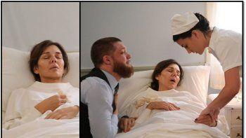 Emocionante escena de Andrea Frigerio en Argentina