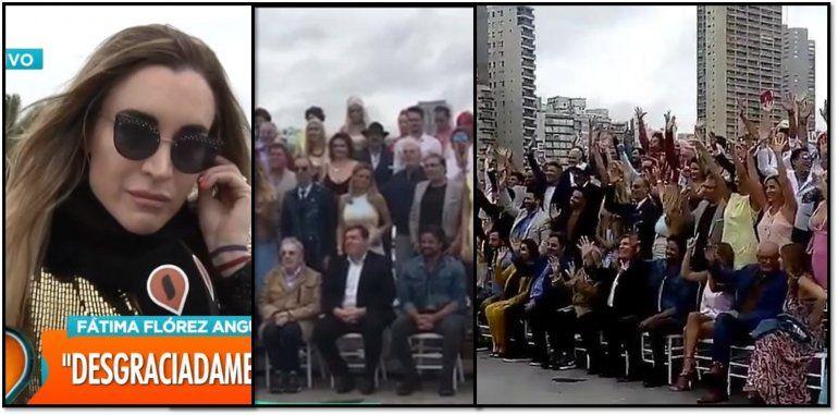 El primer escándalo del verano, Gasalla se quedó con la silla de Fátima en el lanzamiento de la temporada
