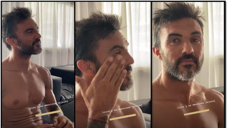 Maldad: Mica Viciconte sorprendió a Fabián Cubero llorando mientras miraba Gladiador