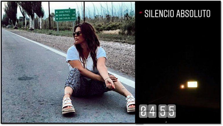 El accidentado viaje de Nazarena Vélez: La actriz y sus hijos varados en la ruta