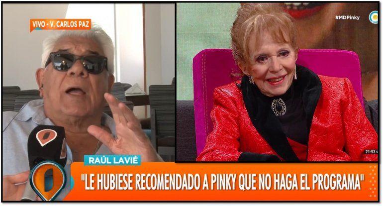 Raúl Lavie se refirió a las imágenes que se filtraron de Pinky: No veo el programa porque me duele verla así