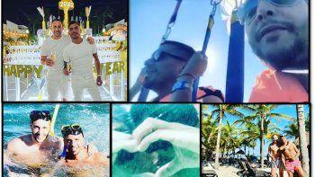 Las románticas vacaciones de Rodrigo Lussich y su novio Juan Pablo: sol