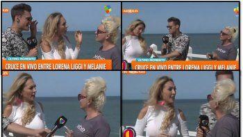 La bailarina Lorena Liggi y Melanie amiga de Carmen Barbieri casi a las trompadas al aire