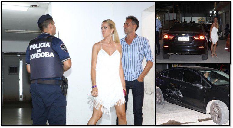 Julieta Prandi chocó contra una moto y terminó en la comisaría