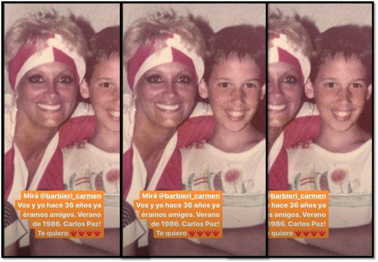 Pasaron 34 años: La foto retro de Carmen Barbieri y Rodrigo Lussich