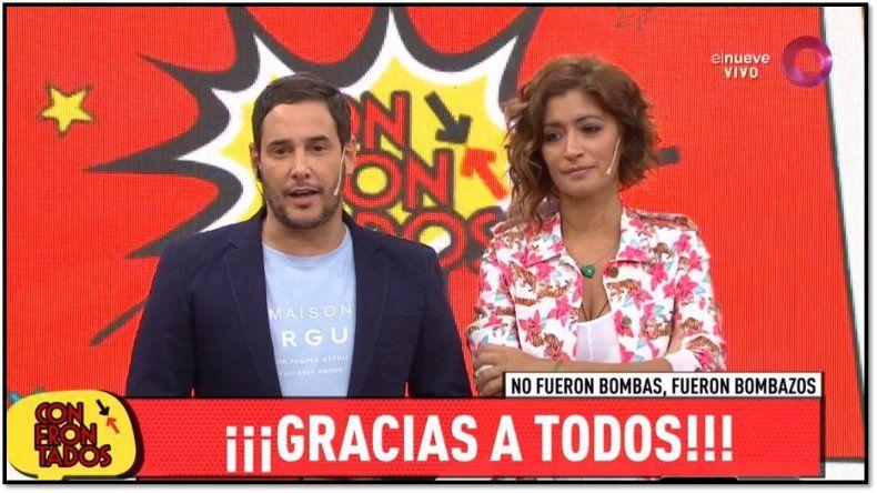 Rodrigo Lussich y Carla Conte se despidieron de Confrontados después de cuatro temporadas