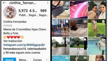 Guerra total Cinthia Fernández vs Martín Baclini: ella lo borró de su Instagram