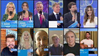 #unidosporargentina: asi fue la historica transmision; emocion, perlitas, rating y recaudacion