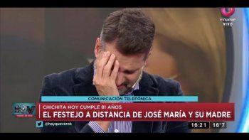 José María Listorti se largó a llorar en vivo al no poder estar en el cumpleaños de su mamá