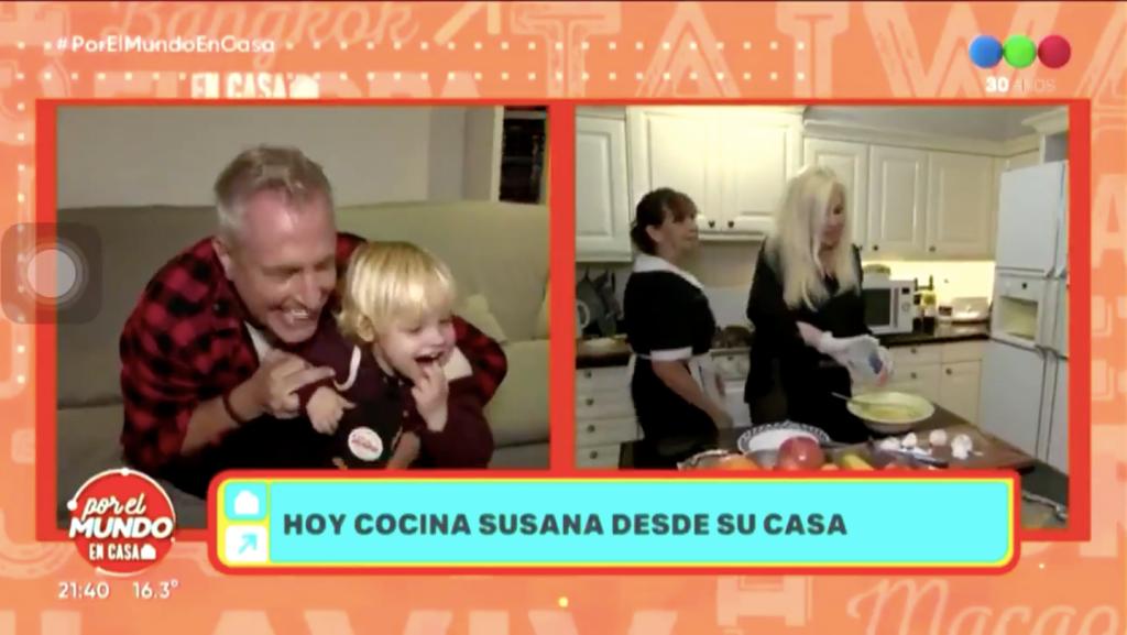 Susana Giménez hizo en vivo una tortilla, qué dijeron Marley y Mirko