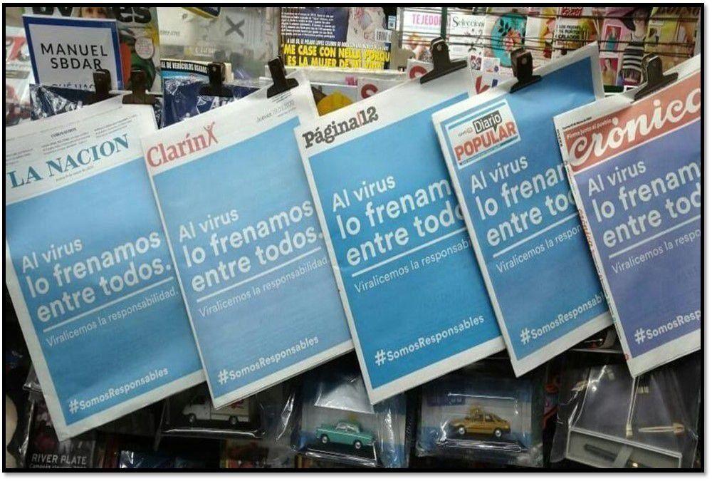 #Somos responsables: Los diarios del país se unieron para concientizar con una misma tapa