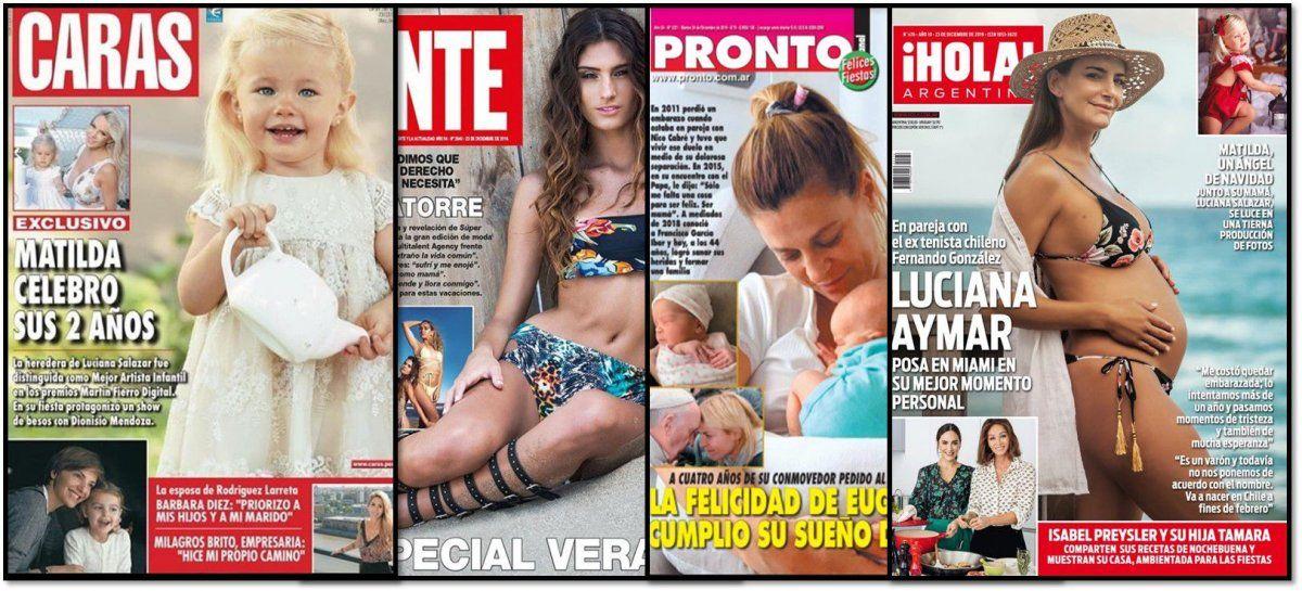 Bebés y embarazos en las revistas de la semana