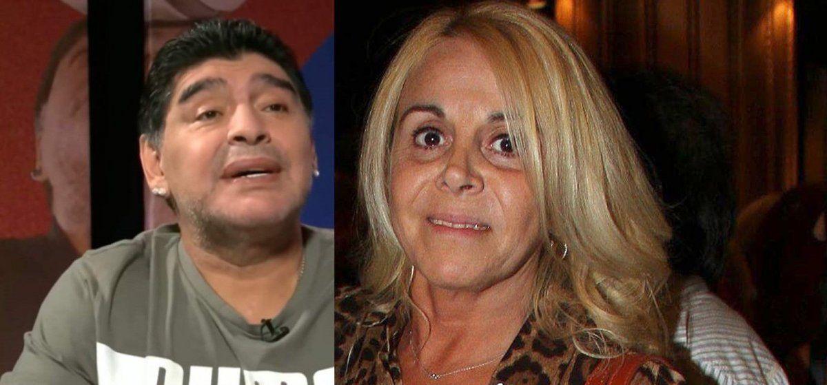 Claudia Villafañe desmintió que Diego Maradona conoció a Roma, su nieta, hija de Dalma