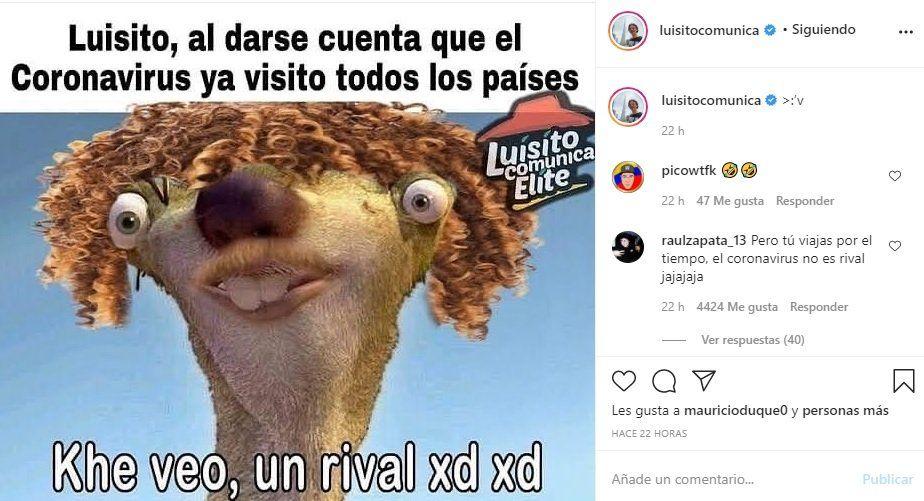 ¡Humor inteligente! Luisito Comunica compartió un gracioso meme que le hicieron