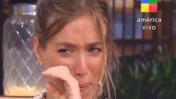 Chantal Abad rompió en llanto al hablar de la muerte de Agustina Posse