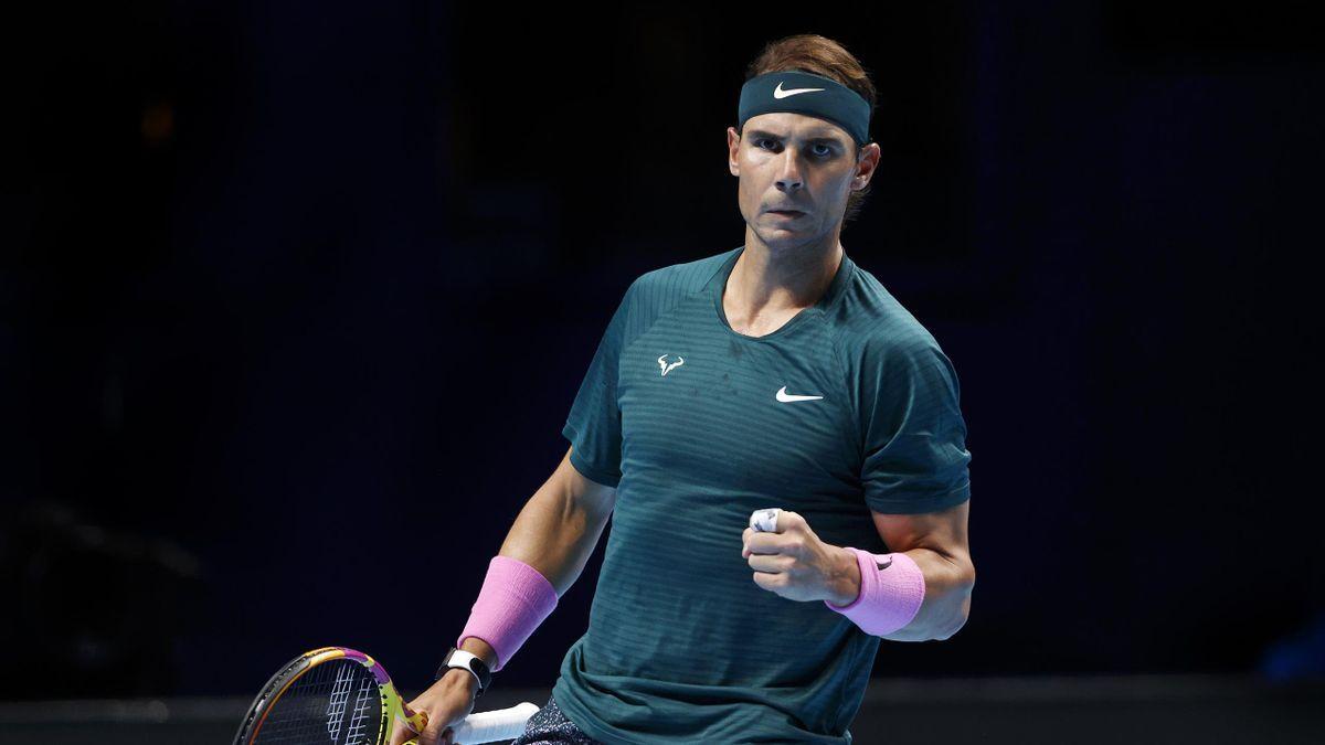 ¡Muy superior! Rafa Nadal inició muy fuerte en el ATP Finals de Londres