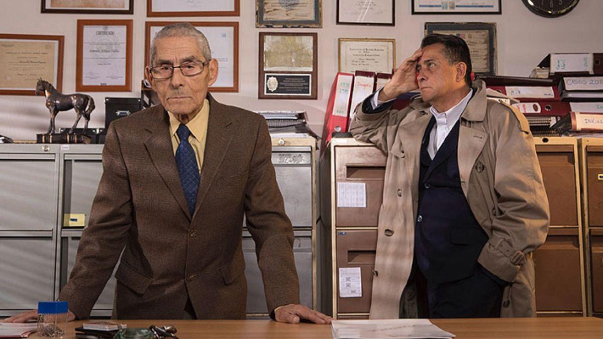 Sergio Chamy en una de las escenas del documental El Agente Topo