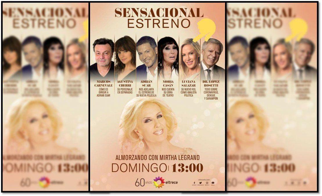 Luciana Salazar plantó a Mirtha Legrand en su debut : los motivos