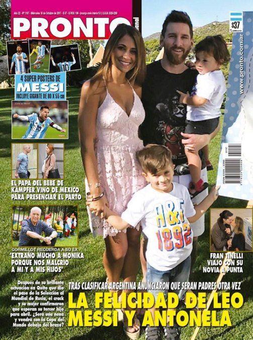 Las tapas de la semana: el embarazo de la mujer de Messi, Wanda y Eleonora Wexler