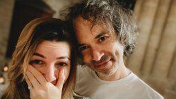 La modelo y actriz Mica Breque, ex de Andrés Calamaro, junto a su futuro esposo el músico James Rhodes