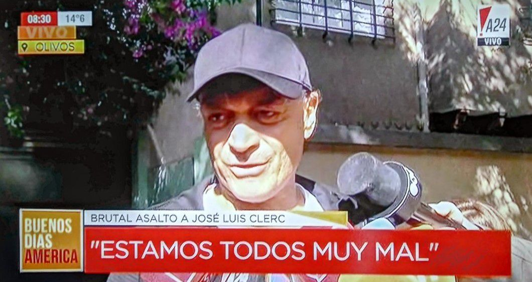 Violento asalto al ex tenista José Luis Clerc: Me pegaron mucho