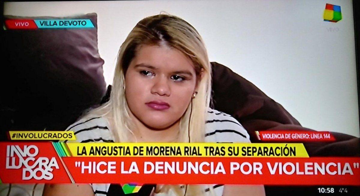 Angustiada y quebrada en llanto: Morena Rial denunció al padre de su hijo por violencia de género; con perimetral y botón antipánico