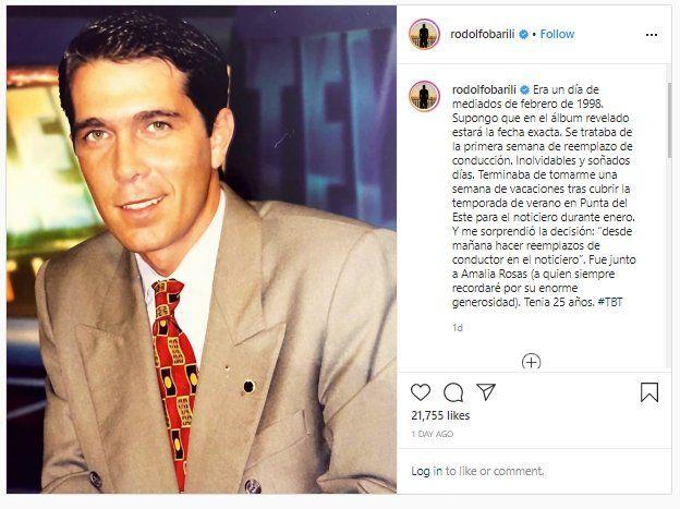 Rodolfo Barili recordó un momento clave en su vida