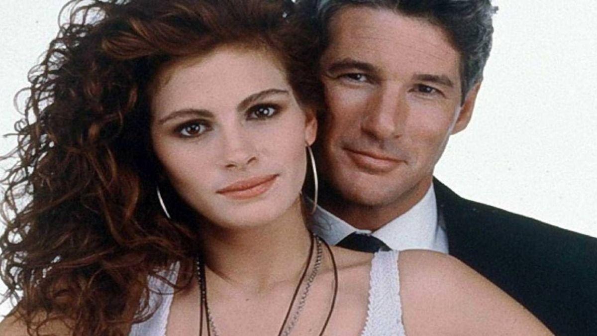 Los protagonistas de Mujer Bonita Julia Roberts y Richard Gere hace 30 años