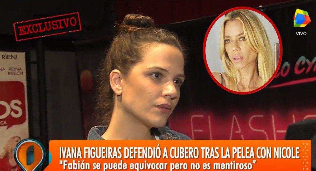 En medio del conflicto Cubero- Nicole- Viciconte, Ivana Figueiras salió a liquidar a la modelo: Es una falsa vegana y está desequilibrada