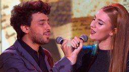 Lizardo Ponce junto a su ex compañera del Cantando 2020, Lucía Villar