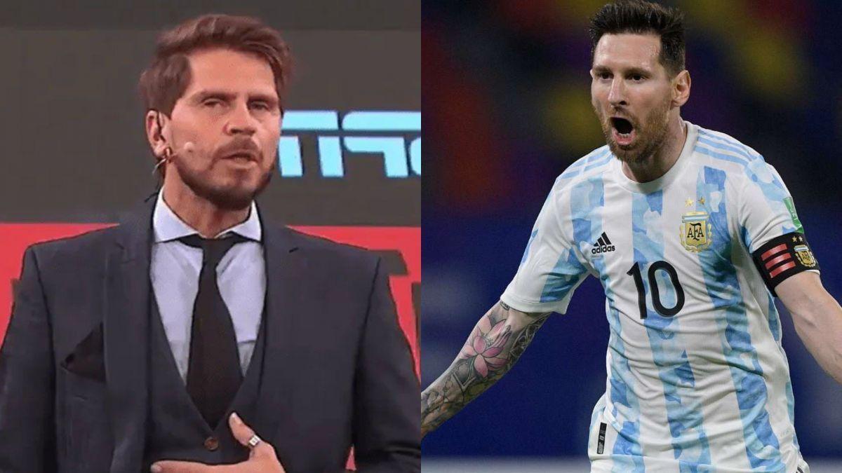Vignolo compartió con la audicencia de F90 el mensaje que le envió Lionel Messi