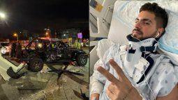 Fer Vázquez sufrió un grave accidente en Miami