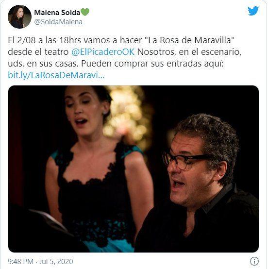 La actriz Malena Solda