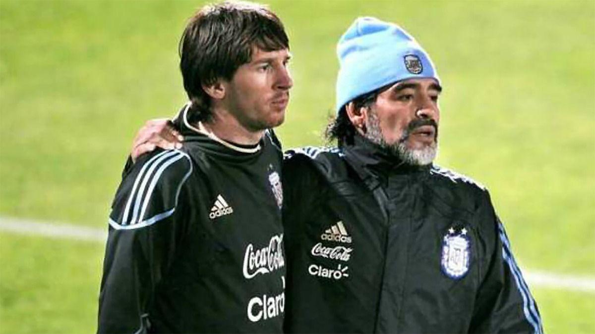 Los jugadores argentinos Lionel Messi