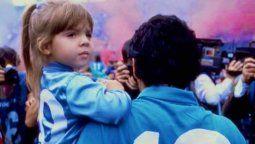 Dalma Maradona recordó a su papá en Instagram. Te abrazamos fuerte.