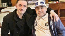 Matías Morla junto al jugador Diego Maradona, quien falleció el pasado 25 de noviembre