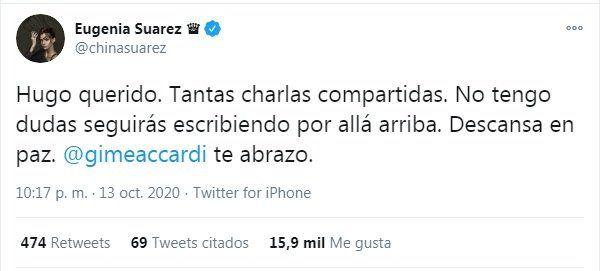 La China Suárez le envió su apoyo a Gimena Accardi