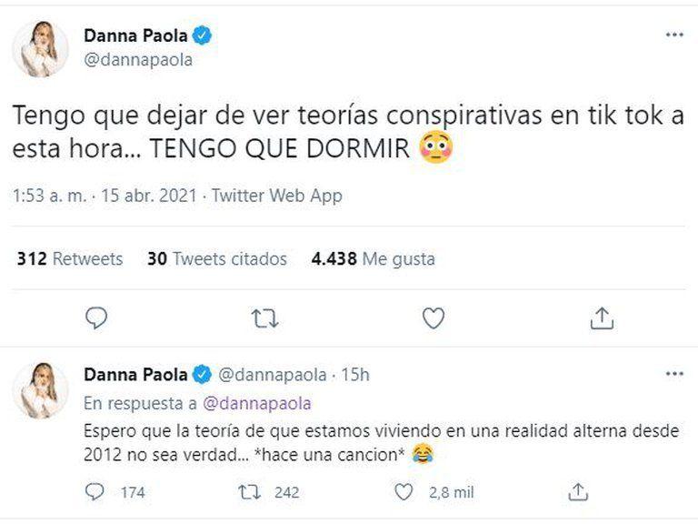 ¡Sin poder dormir! Danna Paola pasó una noche inquieta