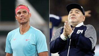 Rafa Nadal emociona a todos por un video con Diego Maradona