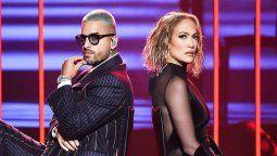 ¡La rompieron! Jennifer Lopez y Maluma se lucieron en los American Music Awards