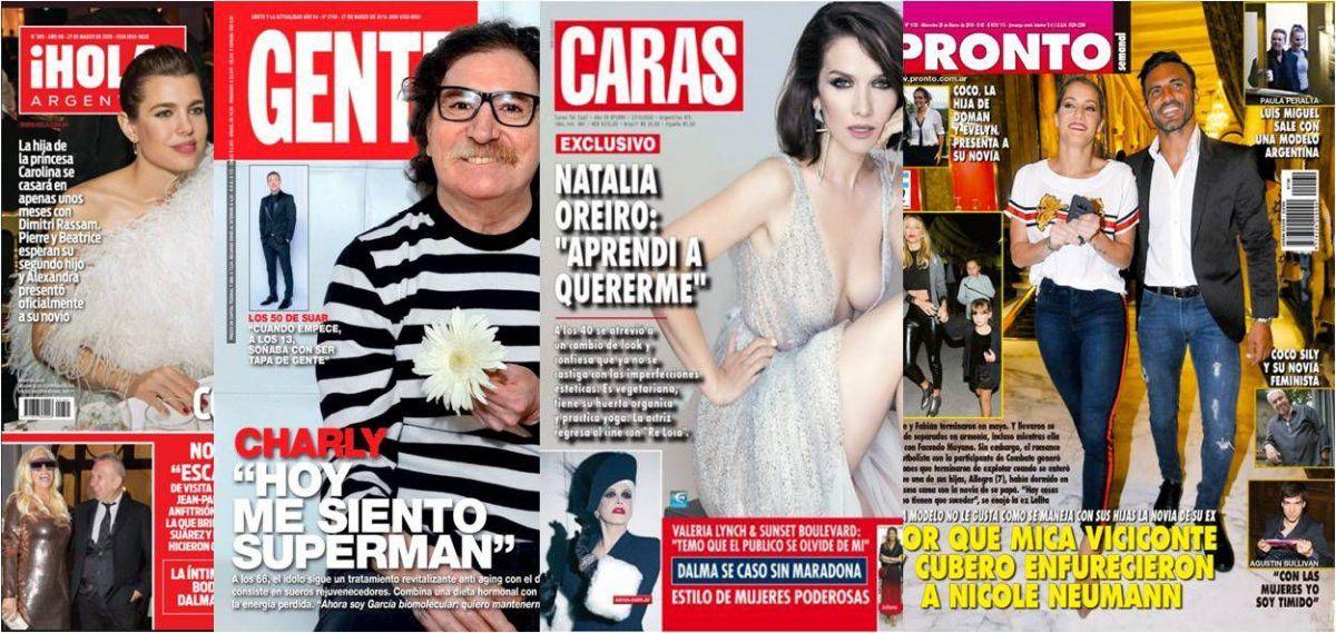 Charly García, Oreiro hot y Cubero-Viciconte contra Nicole en las tapas de la semana