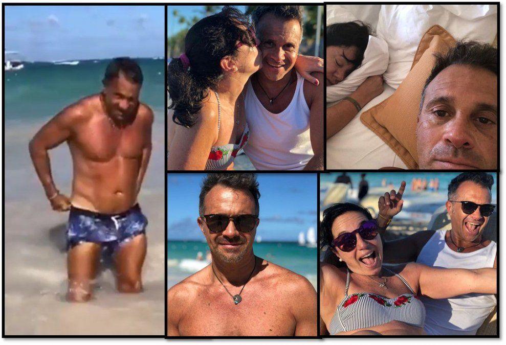 Las vacaciones de Sergio Lapegüe: deportes acuáticos, blooper y familia