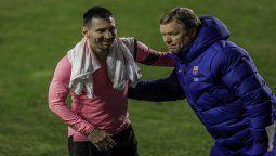 Ronald Koeman puso como condición que le renueven el contrato de Lionel Messi